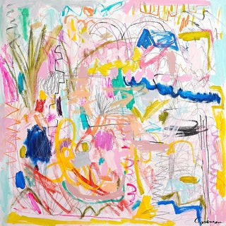 """Lesley Grainger """"Spring Fever"""" Original Abstract Painting For Sale"""