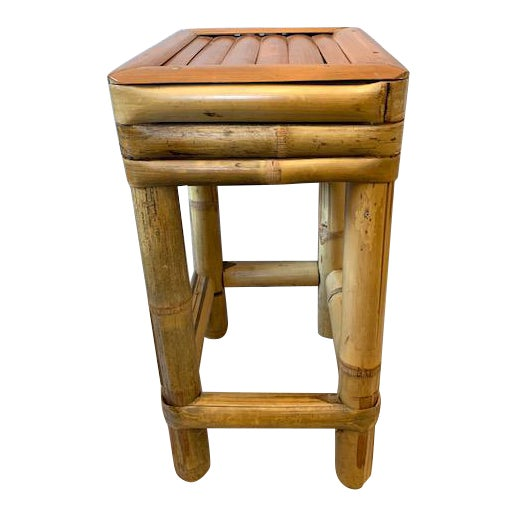Bamboo Drinks Side Table or Plants Stand For Sale