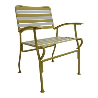 1970s Vintage Mid Century Patio Lounge Arm Chair For Sale