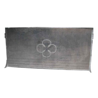 Wrought Iron Floral Fireplace Screen For Sale
