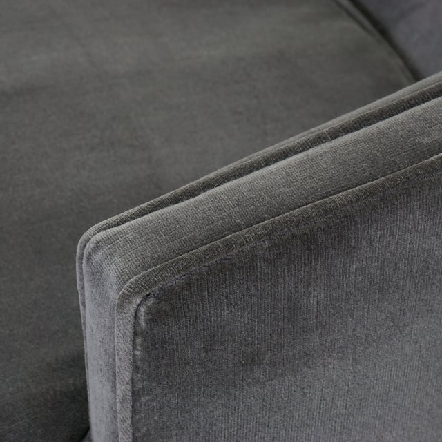 Textile Swivel Tub Chairs in Shadow Velvet, Pair For Sale - Image 7 of 8