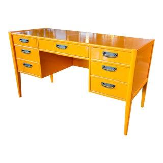 1970s Vintage Broyhill Mid Century Modern Desk For Sale