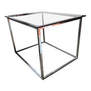 Mid Century Modern Chrome & Glass Coffee/Side Table For Sale
