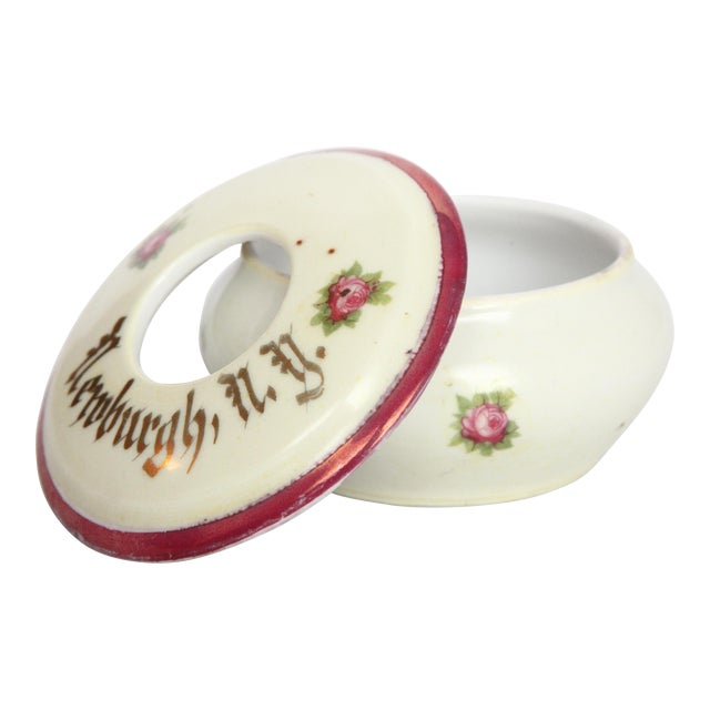 Antique Victorian Newburgh, NY Porcelain Hair Receiver - Image 1 of 11
