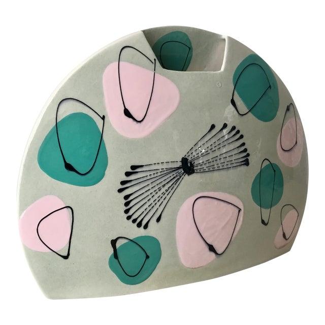 Mid-Century Atomic Pastel Pillow Vase For Sale