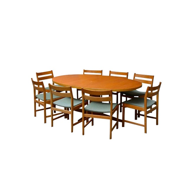 Matching Table by Kurt Stervig for Kp Furniture- Set of 8 For Sale