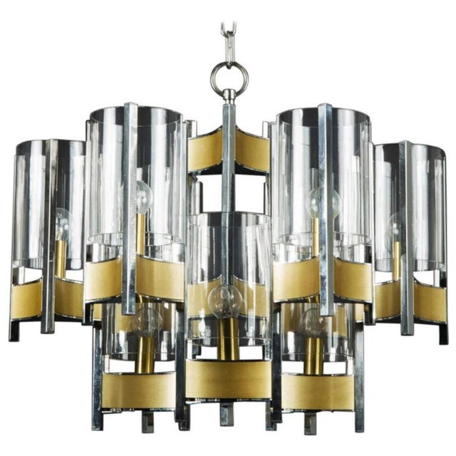 Hurricane Chandelier by Gaetano Sciolari For Sale - Image 11 of 11