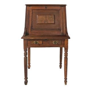 Mid 19th Century Broewn Victorian Drop Front Secretary Desk For Sale