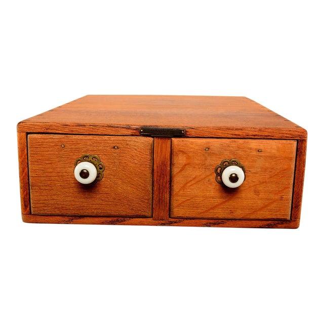 Vintage Oak File Box For Sale