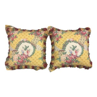 Brunschwig & Fils Flanged Down Custom Designer Pillows - A Pair