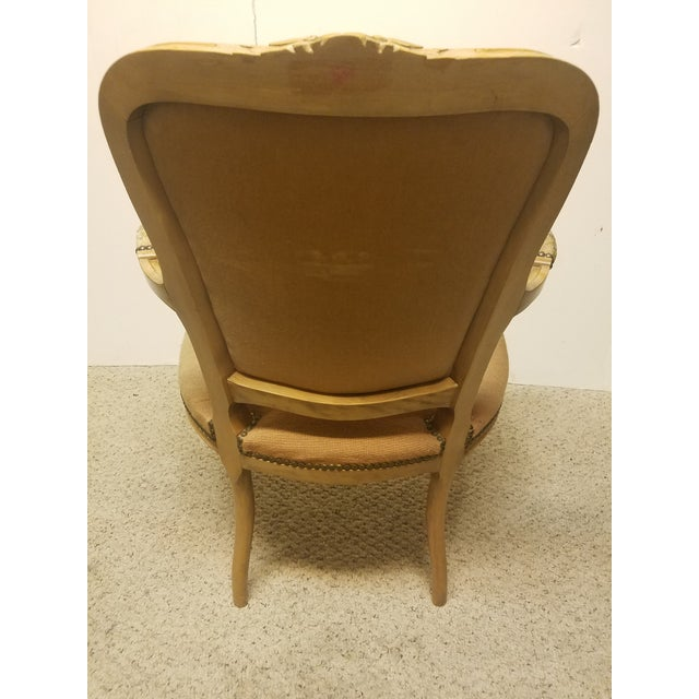 19th Century French Needle Point Arm Chair For Sale - Image 4 of 6