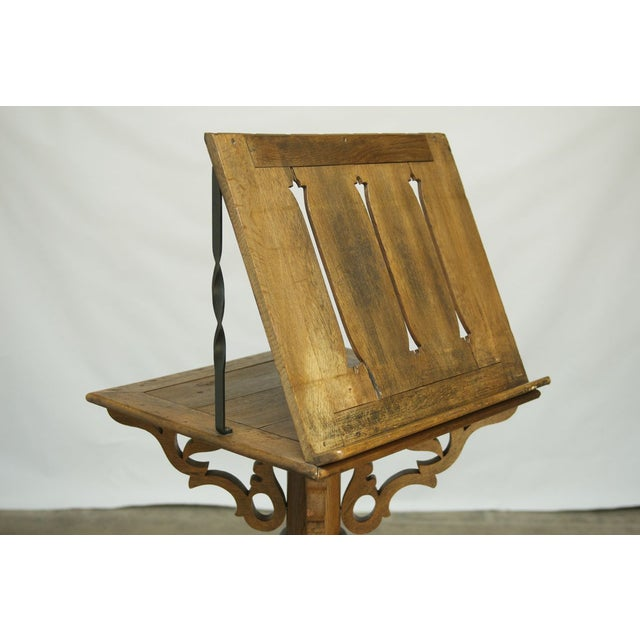 Monumental Italian Carved Oak Lectern Book Stand - Image 3 of 7