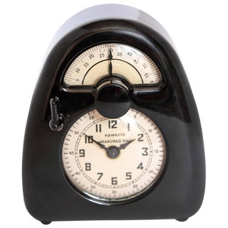 Isamu Noguchi Art Deco Bakelite Hawkeye Measured Time Clock / Timer For Sale