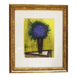 """Bernard Buffet """"Le Bouquet Violet"""" Lithograph For Sale"""
