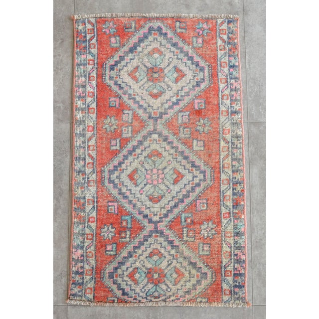 Hollywood Regency Hand Knotted Door Mat, Entryway Rug, Bath Mat, Kitchen Decor, Small Rug, Turkish Rug - 1′7″ × 2′7″ For Sale - Image 3 of 5