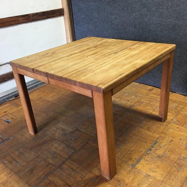 Oak Butcher Block Dining Table - Image 6 of 7