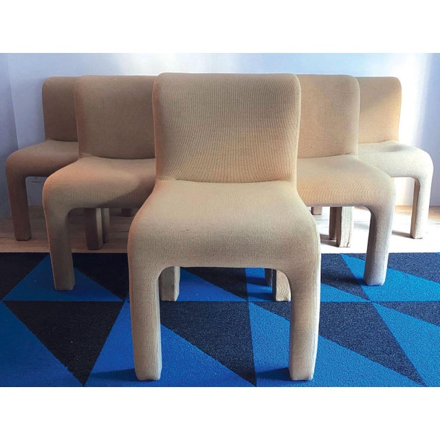Contemporary 1980s Allover Upholstered Dining Chairs - Set of 6 For Sale - Image 3 of 8