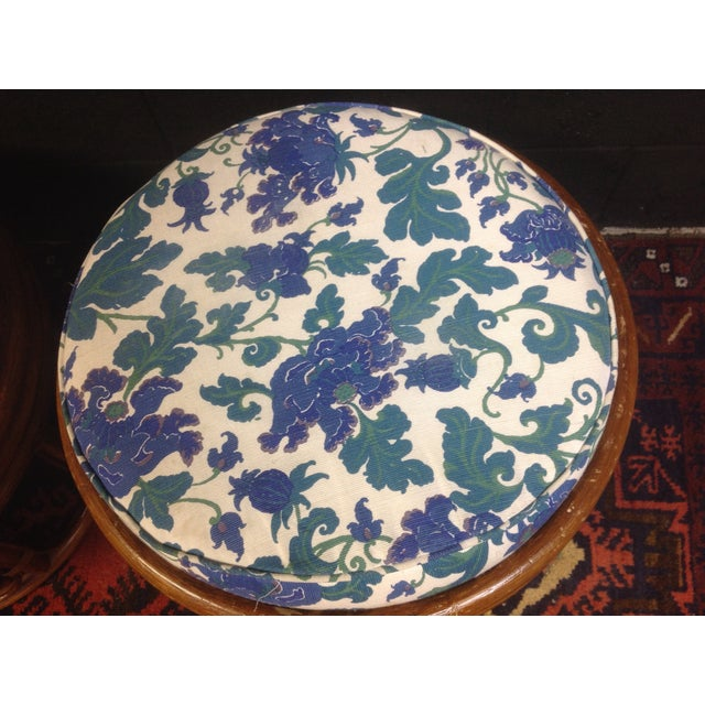 Vintage Bamboo Ottomans - A Pair - Image 5 of 7