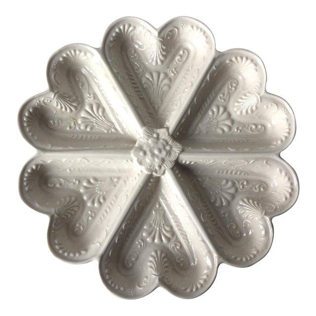 Vintage Salt Glazed Heart Shaped Dish For Sale
