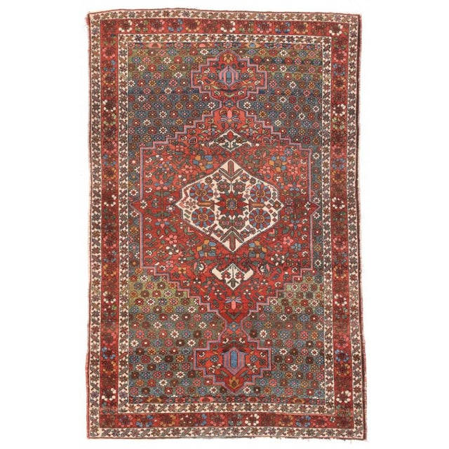 1930s Semi Antique Hand Made Bakhtiari Persian Rug For Sale - Image 5 of 5