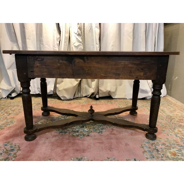 French Walnut Work Table With Drawers For Sale - Image 6 of 8