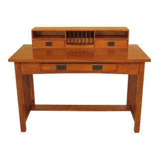 1990s Mission Oak Arts & Crafts Writing Desk For Sale