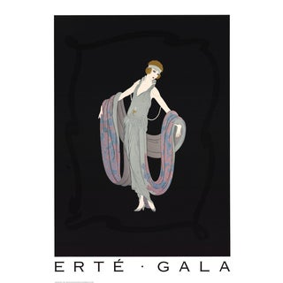 "Erte Gala 36"" X 26"" Poster 1995 Art Deco Multicolor, Gray, Black For Sale"