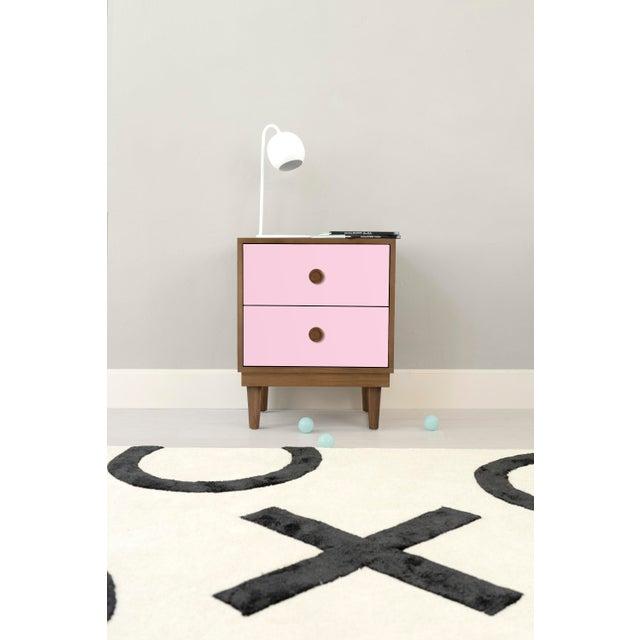 Lukka Modern Kids Walnut Wood Nightstand. A simple elegant design, a modern take on a '50s inspired shape. Our Lukka...