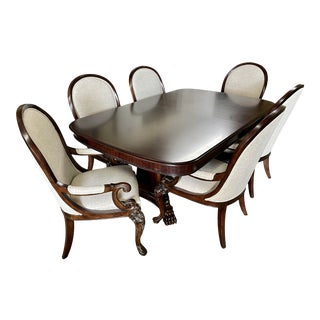 Thomasville Furniture Brompton Hall Regal Mahogany Dining Table N Chair Set For Sale