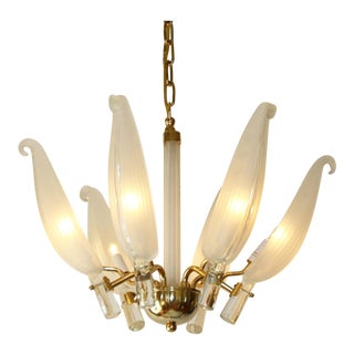 French Leaf Chandelier, C. 1940 For Sale