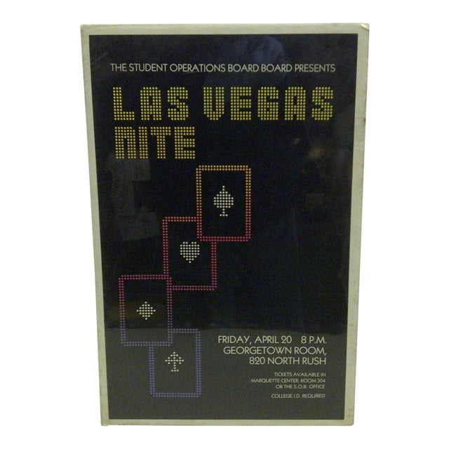 Circa 1980 Las Vegas Nite Marquette Center Concert Poster For Sale