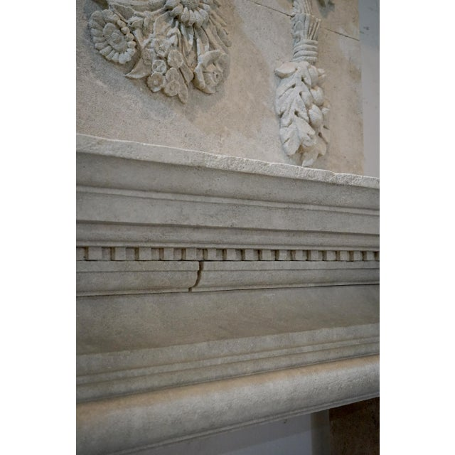 Hand Carved Mantel with Trumeau For Sale - Image 4 of 8