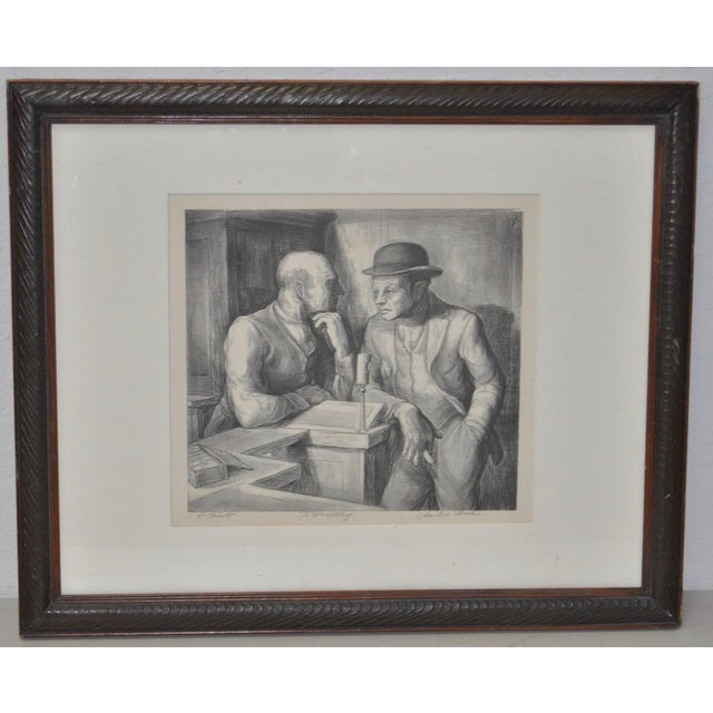 "This is a Charles Locke (1899-1983) pencil signed lithograph, inscribed to ""Dorothy"". From an edition of 40 prints...."