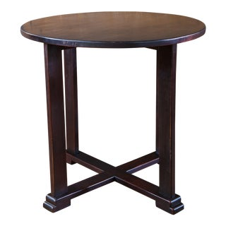 French Mahogany Art Deco Round Side Table For Sale