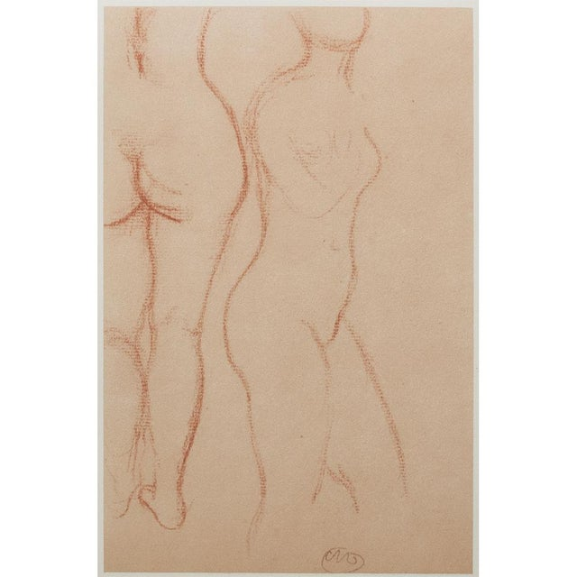 Printmaking Materials 1950s Aristide Maillol, Studies Vintage Hungarian Print For Sale - Image 7 of 9
