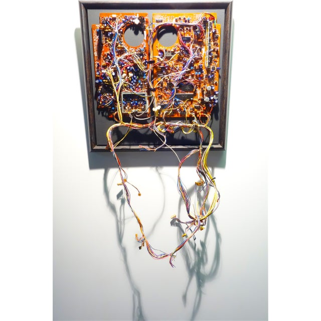 Mid 20th Century Component Art Circuit Wall Sculpture. Bill Reiter. For Sale In Dallas - Image 6 of 11