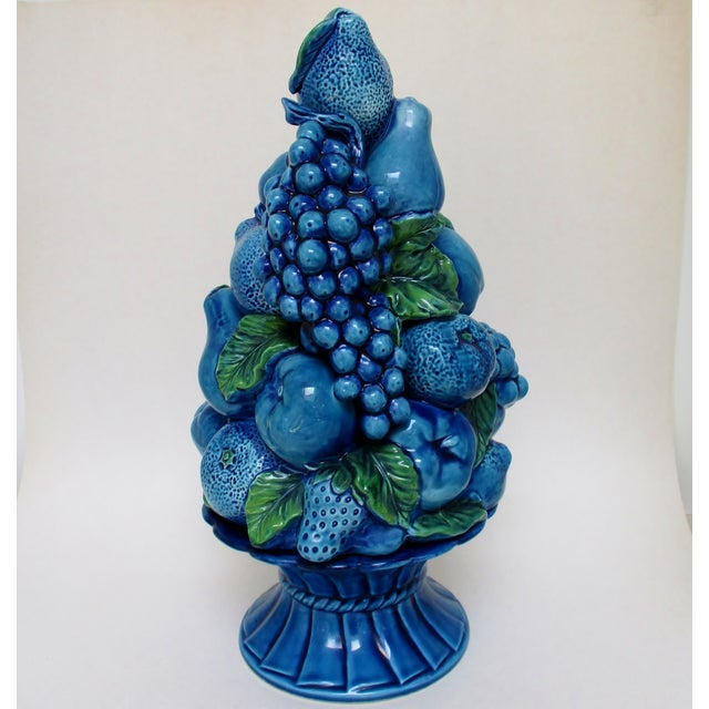 Cottage Vintage Porcelain Fruit Topiary For Sale - Image 3 of 9
