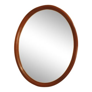 Henkel Harris Oval Solid Cherry Framed Mirror