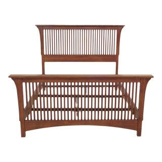 Stickley Full Size Mission Oak Spindle Bed For Sale