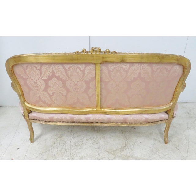 Louis XV Style Gold Gilt Sofa For Sale - Image 9 of 12