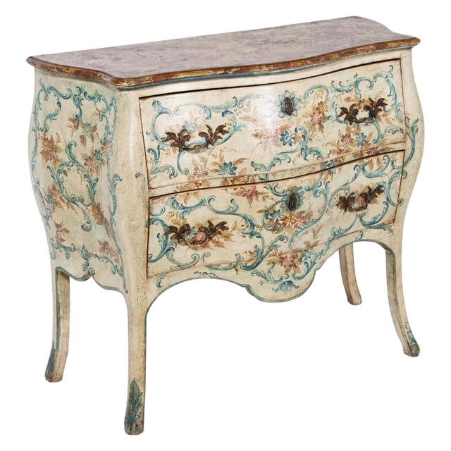Mid 20th Century Italian Painted Commodes - a Pair For Sale