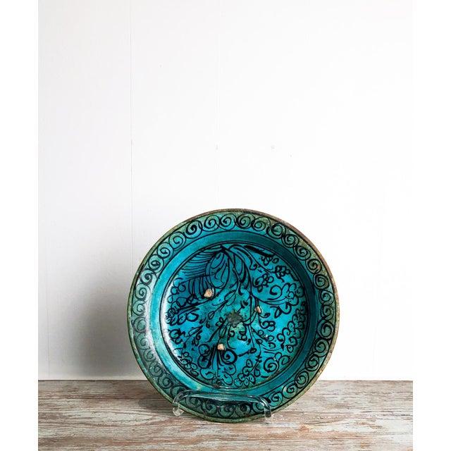 Boho Chic Kushan Turquoise Plate For Sale - Image 3 of 10