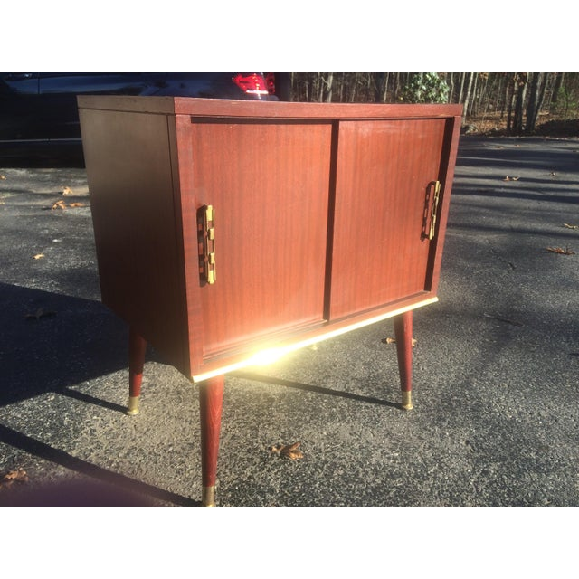 Mid-Century Style Record Cabinet - Image 2 of 5