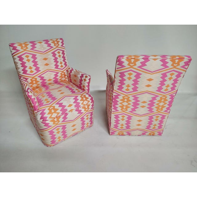 1920s 1920s Bright Geometric Arm Chairs - a Pair For Sale - Image 5 of 11