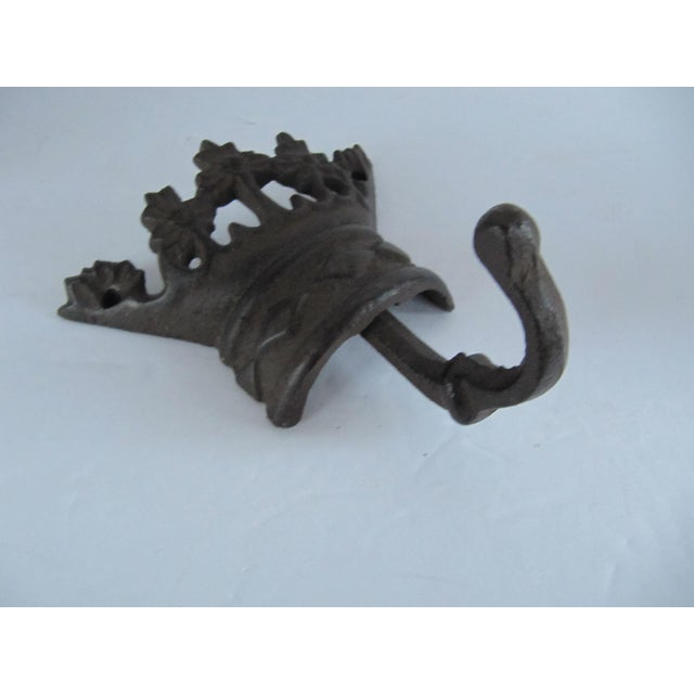 Iron crown wall hook. Perfect for coats, dog leashes, or bath robes. Combined shipping available.