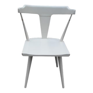 Paul McCobb T-Back White Lacquered Solid Maple Chair For Sale