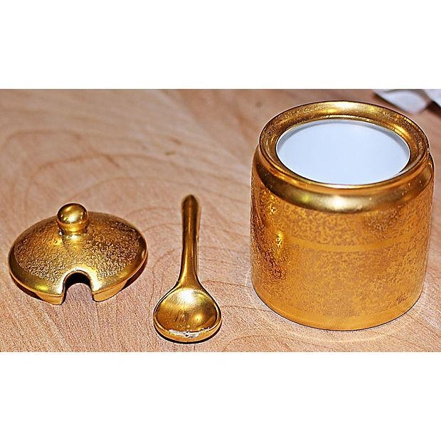 All-Over-Gold Serving Set - 7 Pieces For Sale - Image 7 of 9