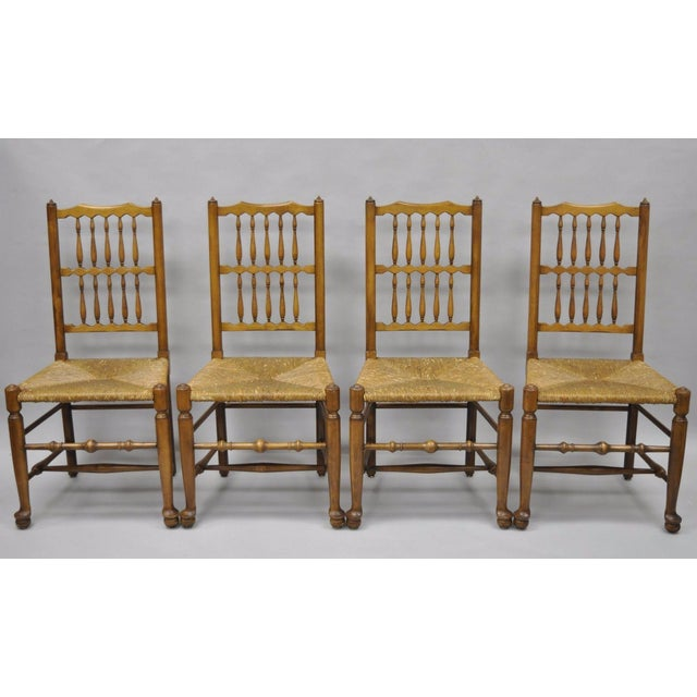 L & J G Stickley Fayetteville Queen Anne Cherry Dining Chairs - Set of 4 - Image 11 of 11