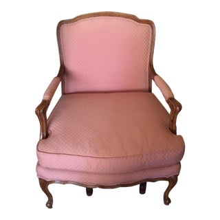 Vintage French Country Louis XV Provincial Style Arm Chair Baker
