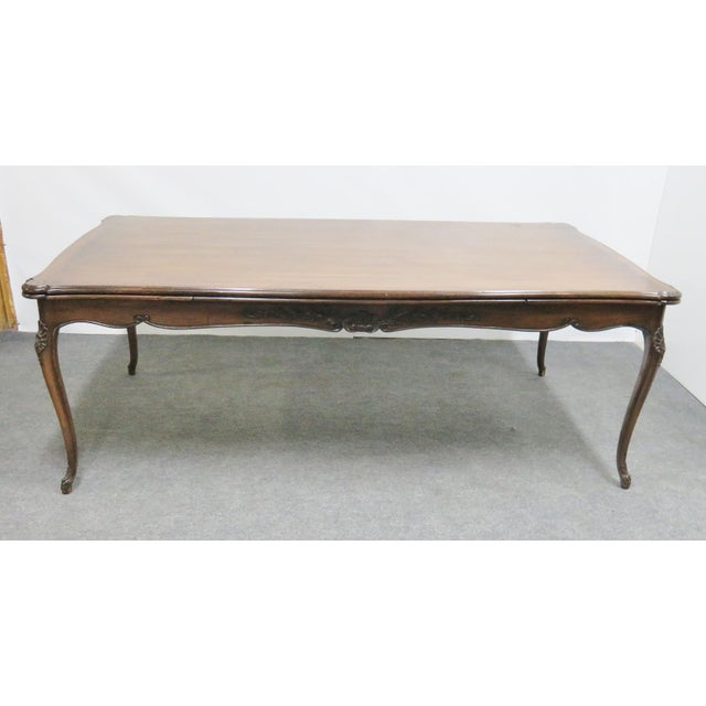Wood Louis XV Walnut Refractory Dining Table For Sale - Image 7 of 7
